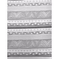 Mantel cenefas geométricas blanco y negro